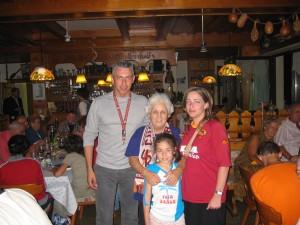 A Irdning. Enzo, Rosita e la figlia Ilona con Luisa Petrucci